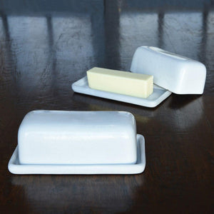 HomArt Liam Ceramic Butter Dish - Set of 4