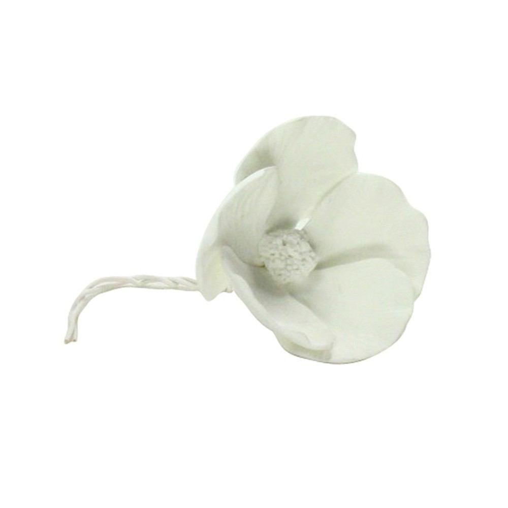 HomArt Bone China Dogwood Flower - White - Set of 6