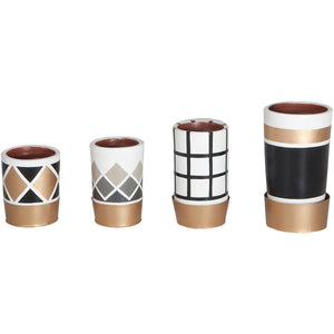 Donna Pattern Pots - Set Of 4