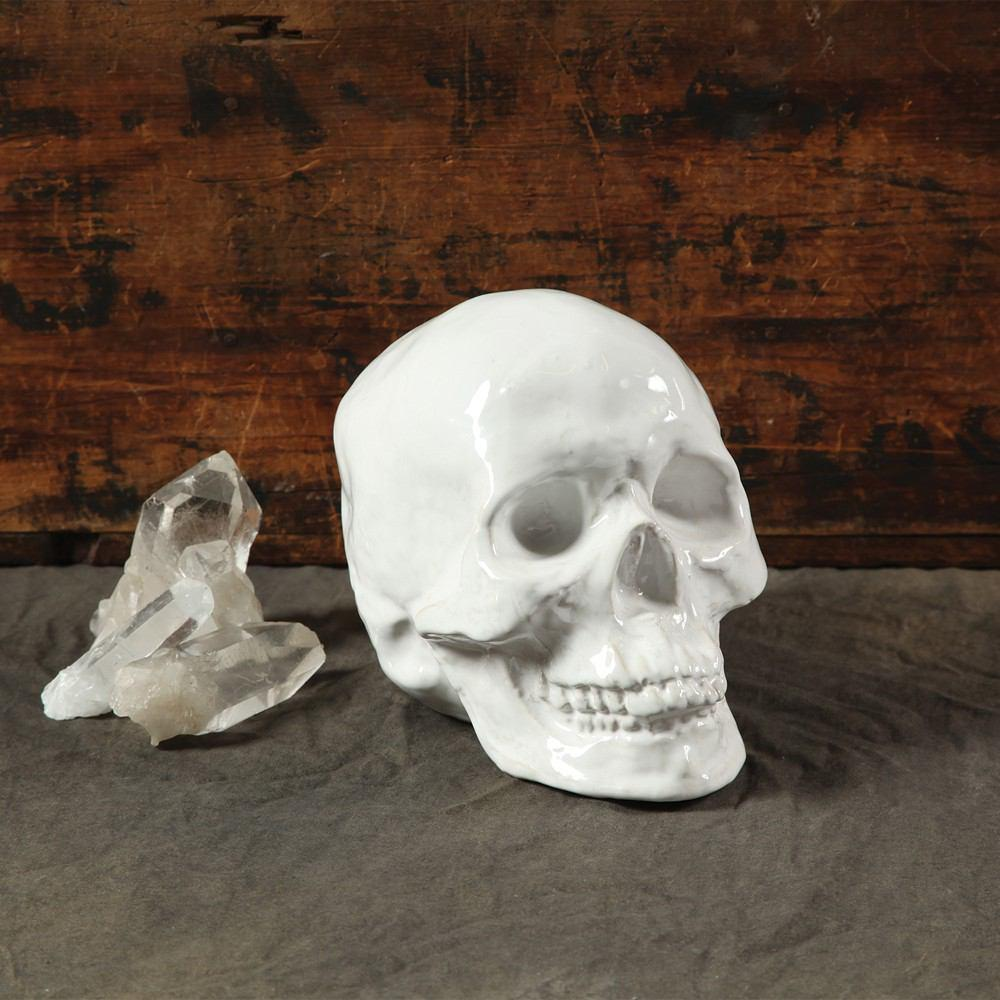HomArt Ceramic Skull - White - Set of 4 - Feature Image