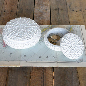 HomArt Urchin Ceramic Box - White - Set of 4