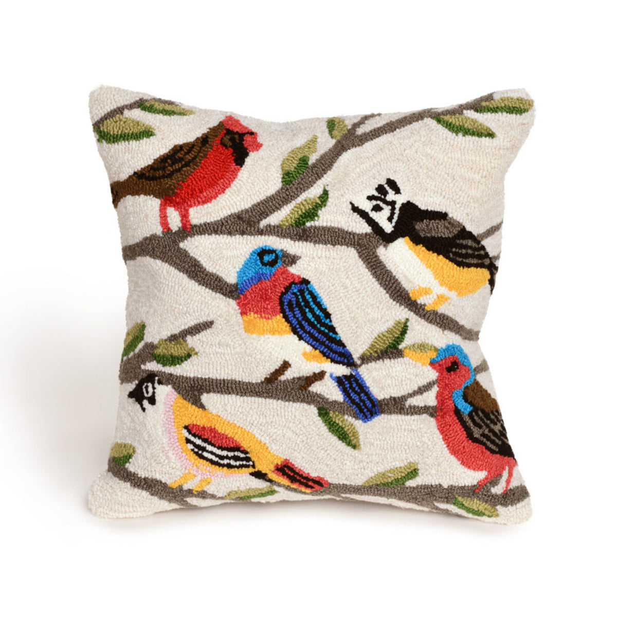 Frontporch Birds Cream Pillows
