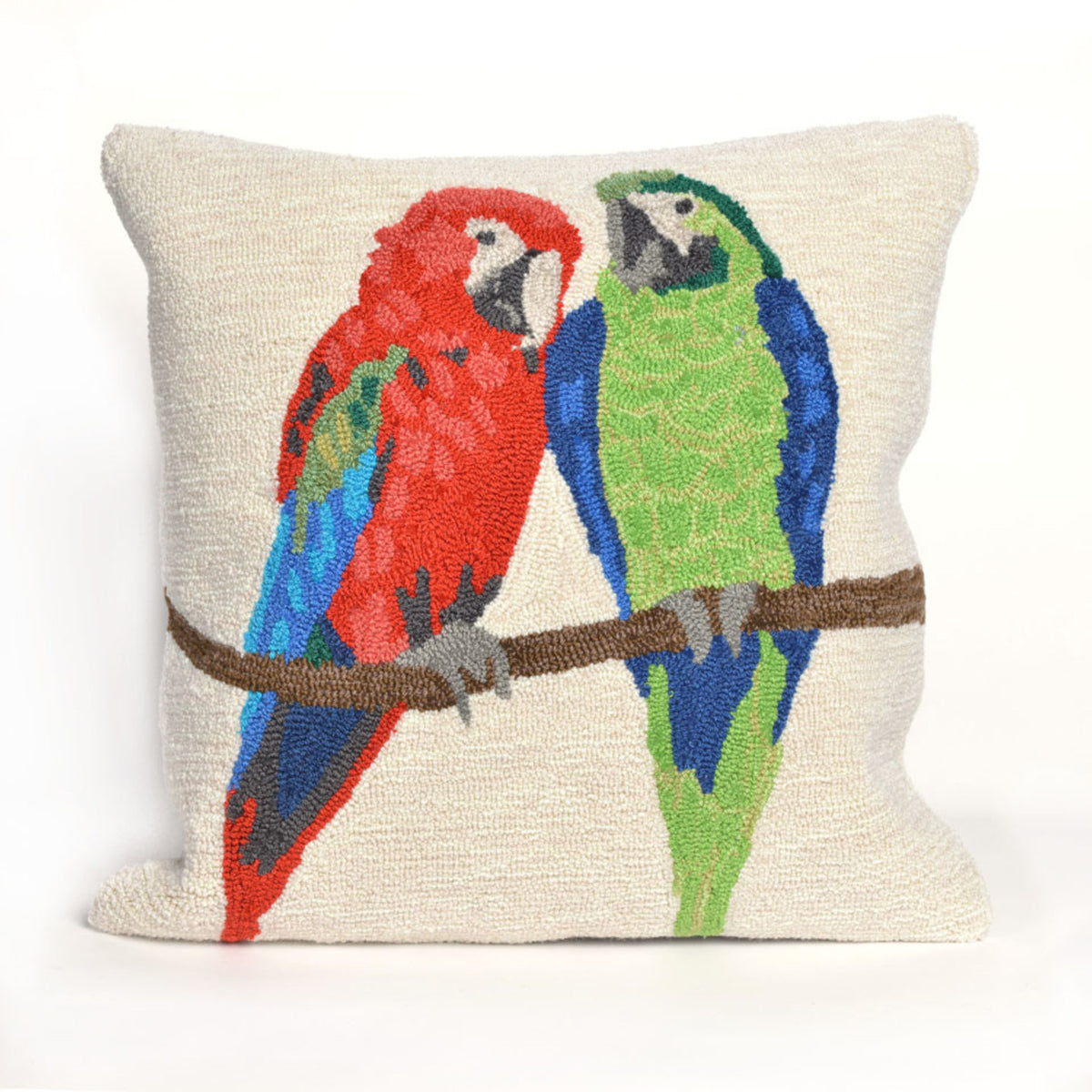 Frontporch Parrots White Pillows