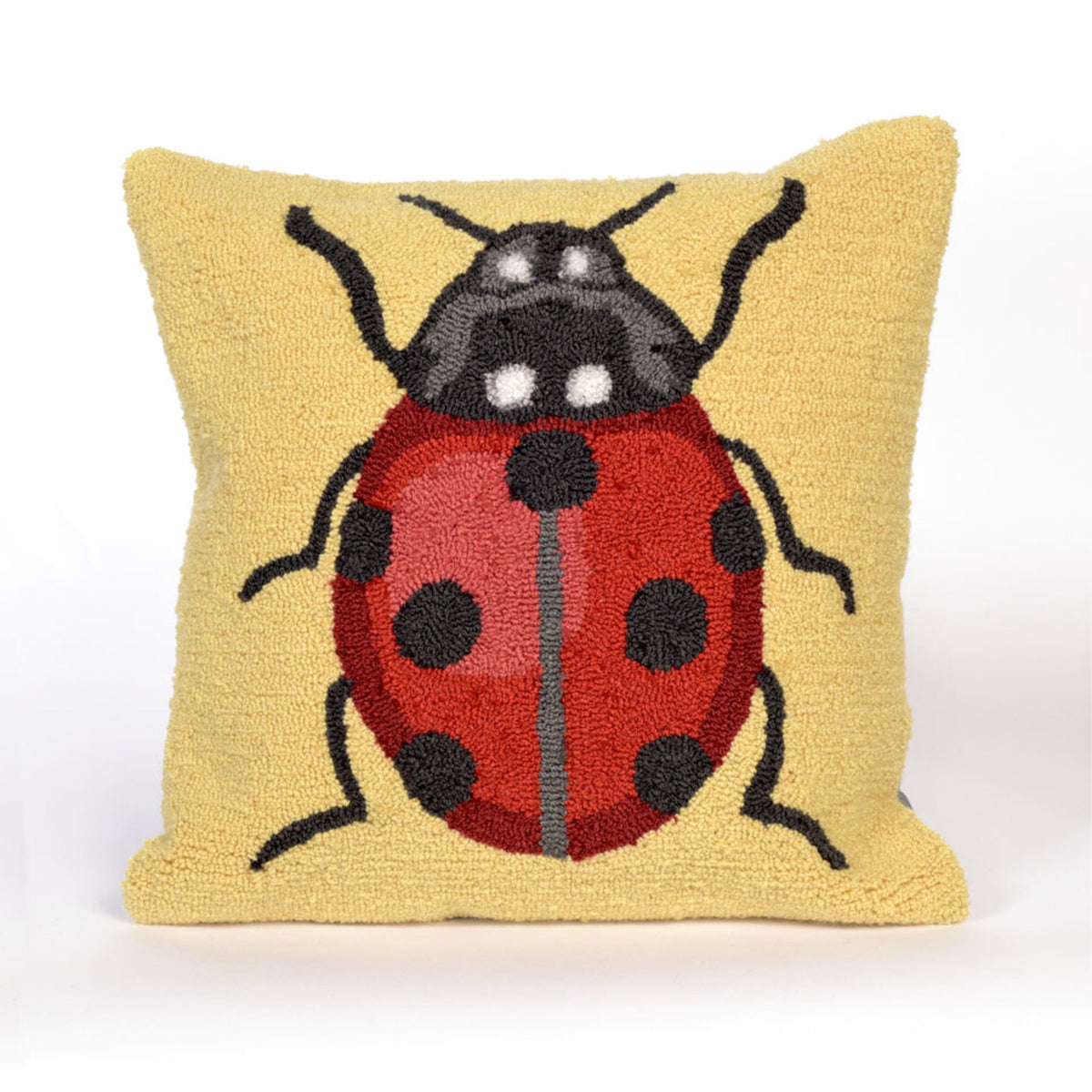Frontporch Ladybug Yellow Pillows
