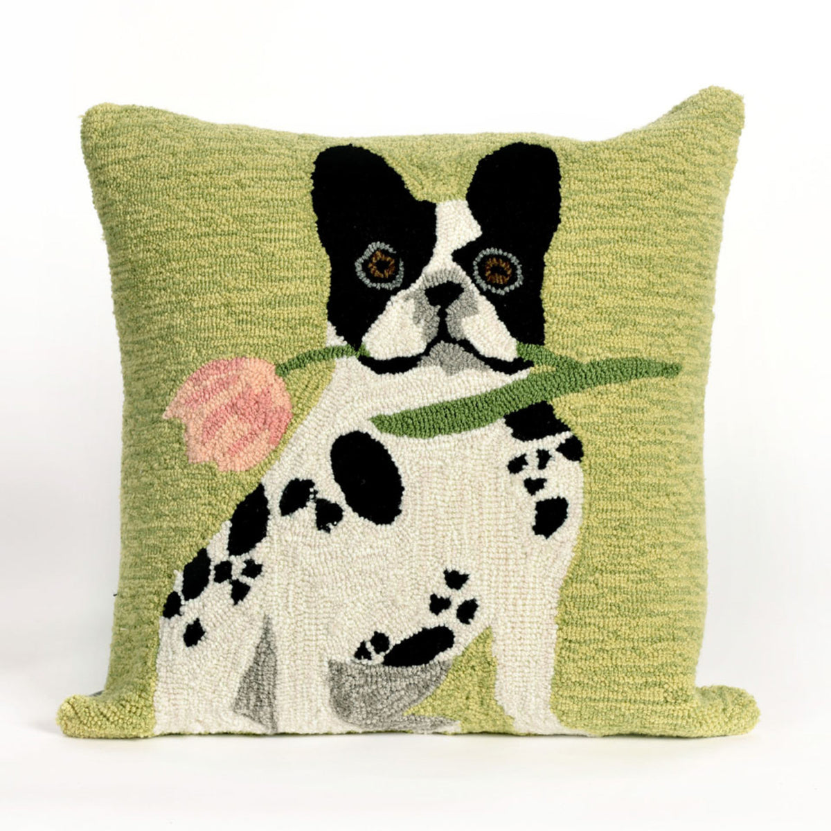 Frontporch Flowery Frenchy Green Pillows