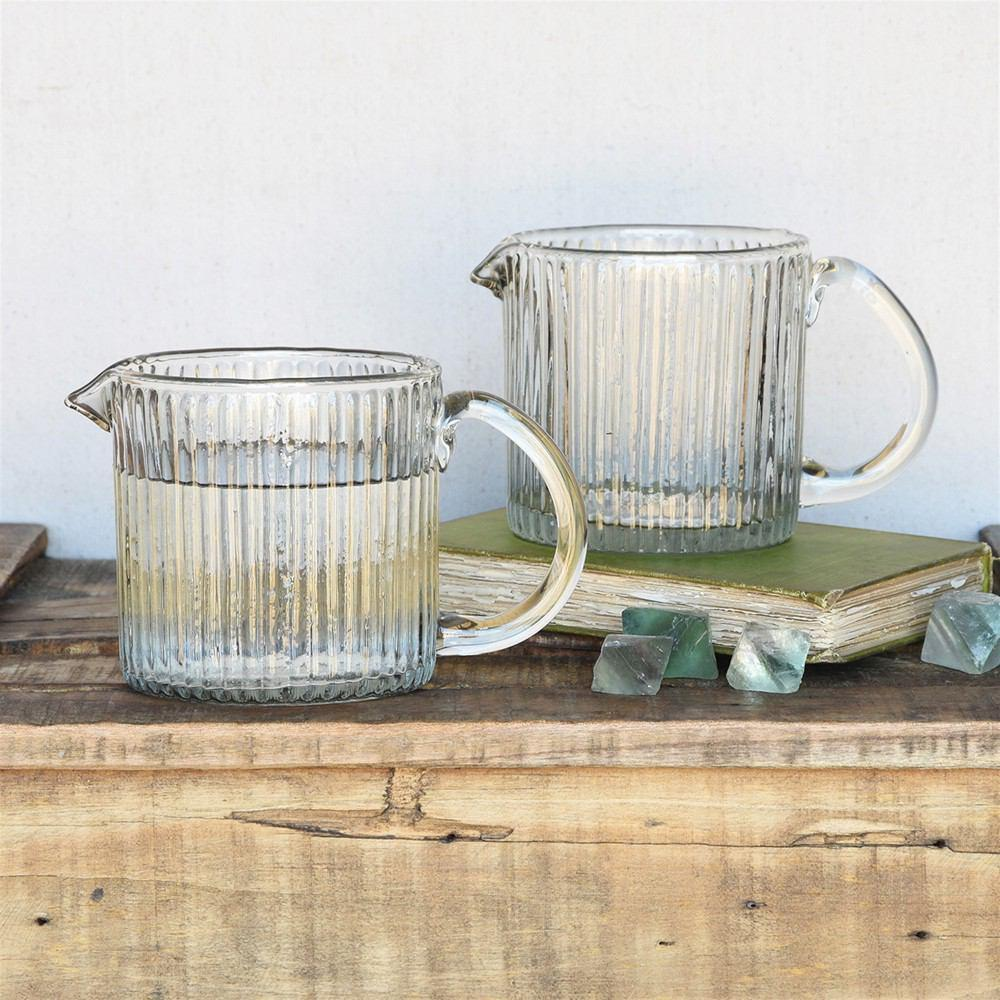 HomArt Glass Pitcher - Ribbed - Set of 4 - Feature Image