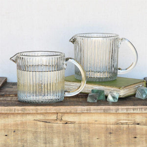HomArt Glass Pitcher - Ribbed - Set of 4