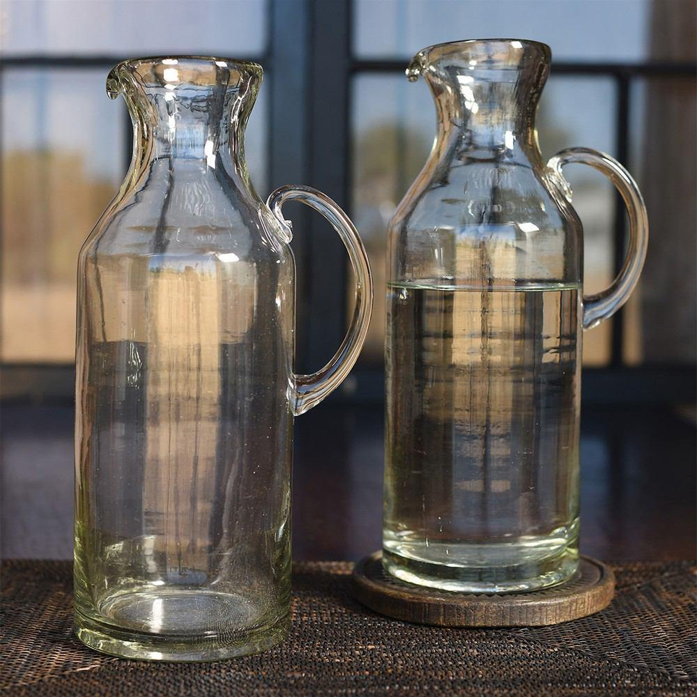 HomArt Cantina Recycled Glass Carafe - Set of 2