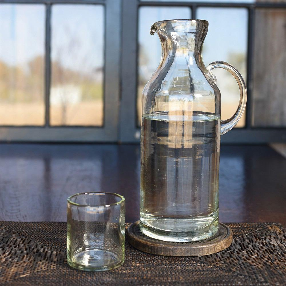 HomArt Cantina Recycled Glass Carafe - Set of 2 - Feature Image