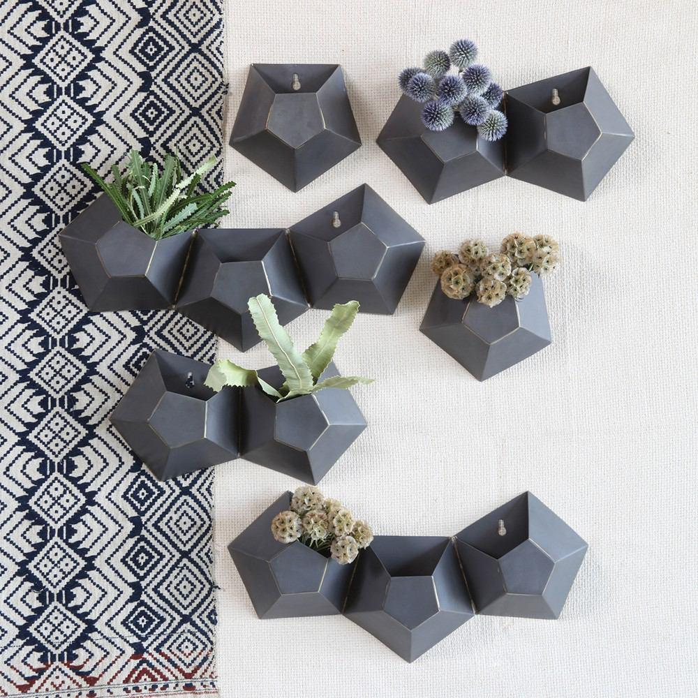 HomArt Hexagonal Iron Wall Vase