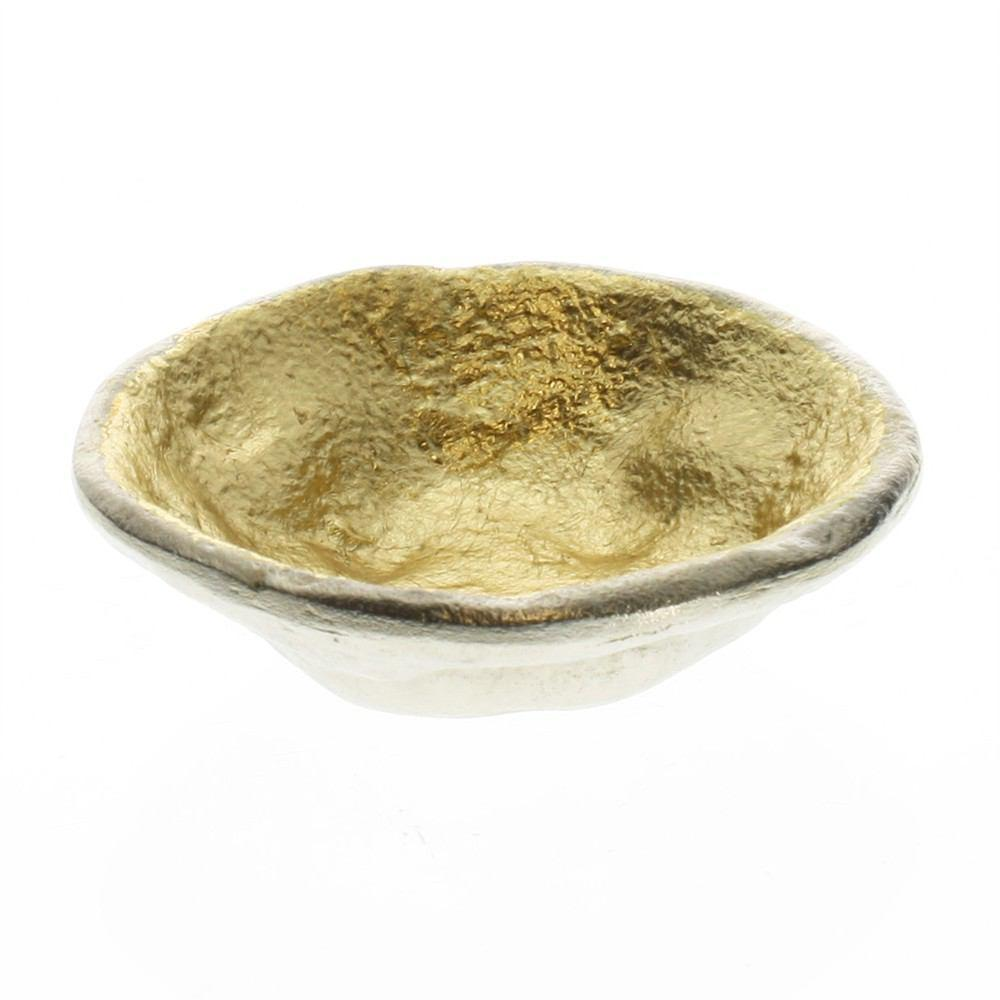 HomArt Strada Organic Cast Metal Bowl - Alum OUT - Gold IN - Small