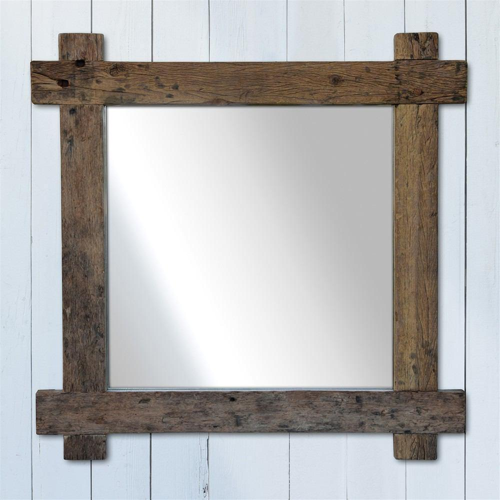 HomArt Salvaged Plank Wood Mirror - Square - Feature Image