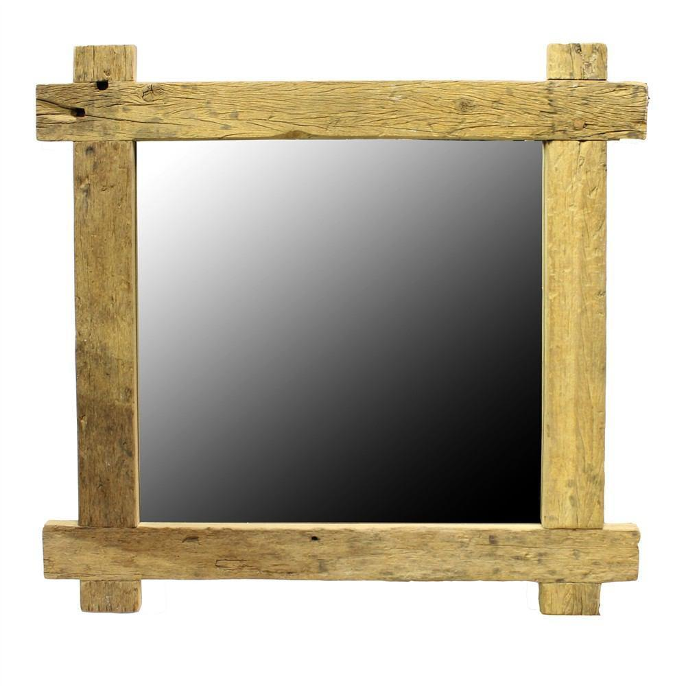 HomArt Salvaged Plank Wood Mirror - Square
