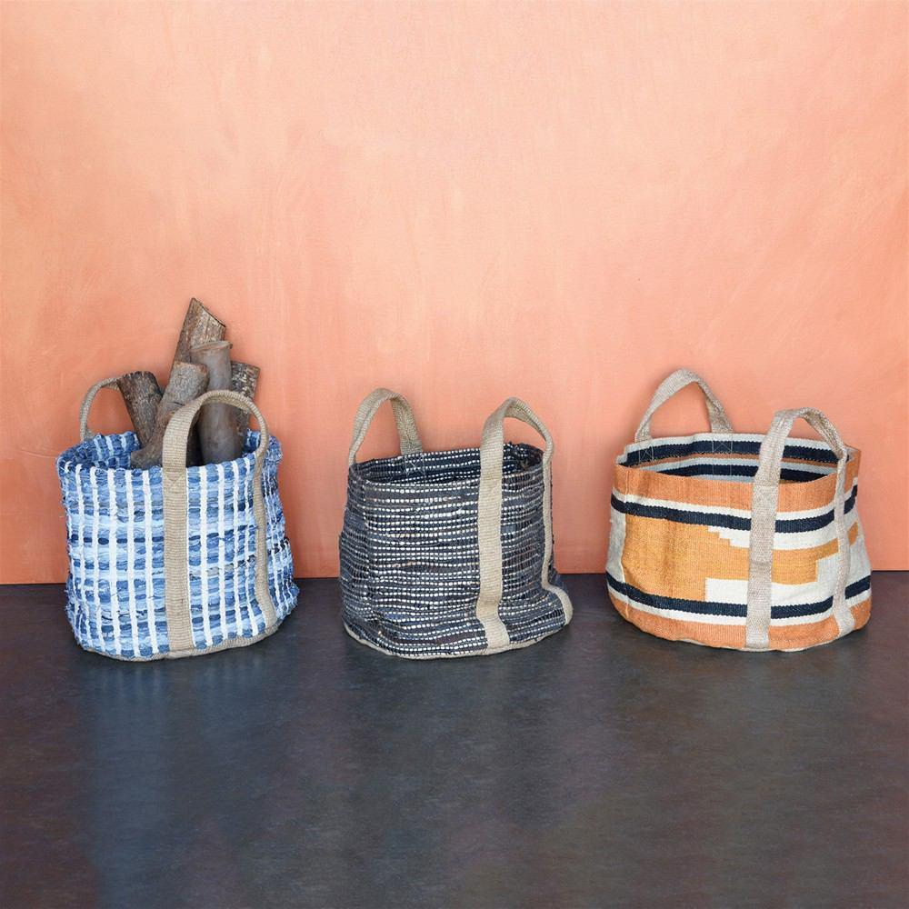 HomArt Woven Storage Leather & Hemp Basket - Feature Image
