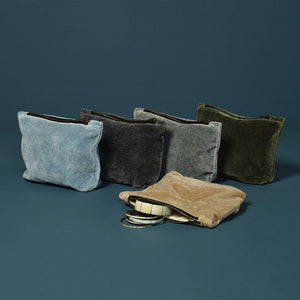 HomArt Velvet Zipper Pouch - Set of 6