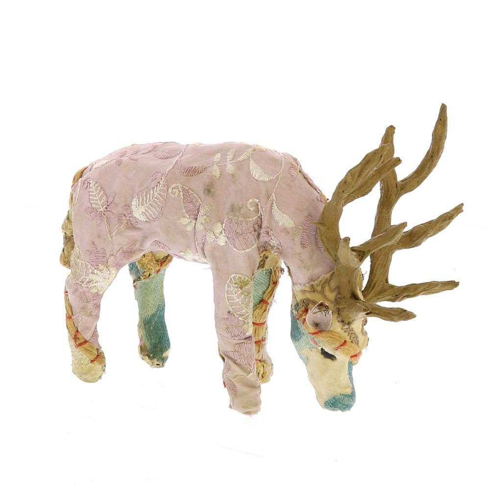 HomArt Bavarian Forest Stag Grazing - Petite - Set of 4 - Beige
