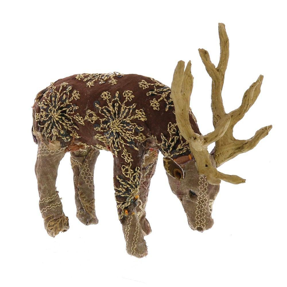 HomArt Bavarian Forest Stag Grazing - Petite - Set of 4 - Deep Brown