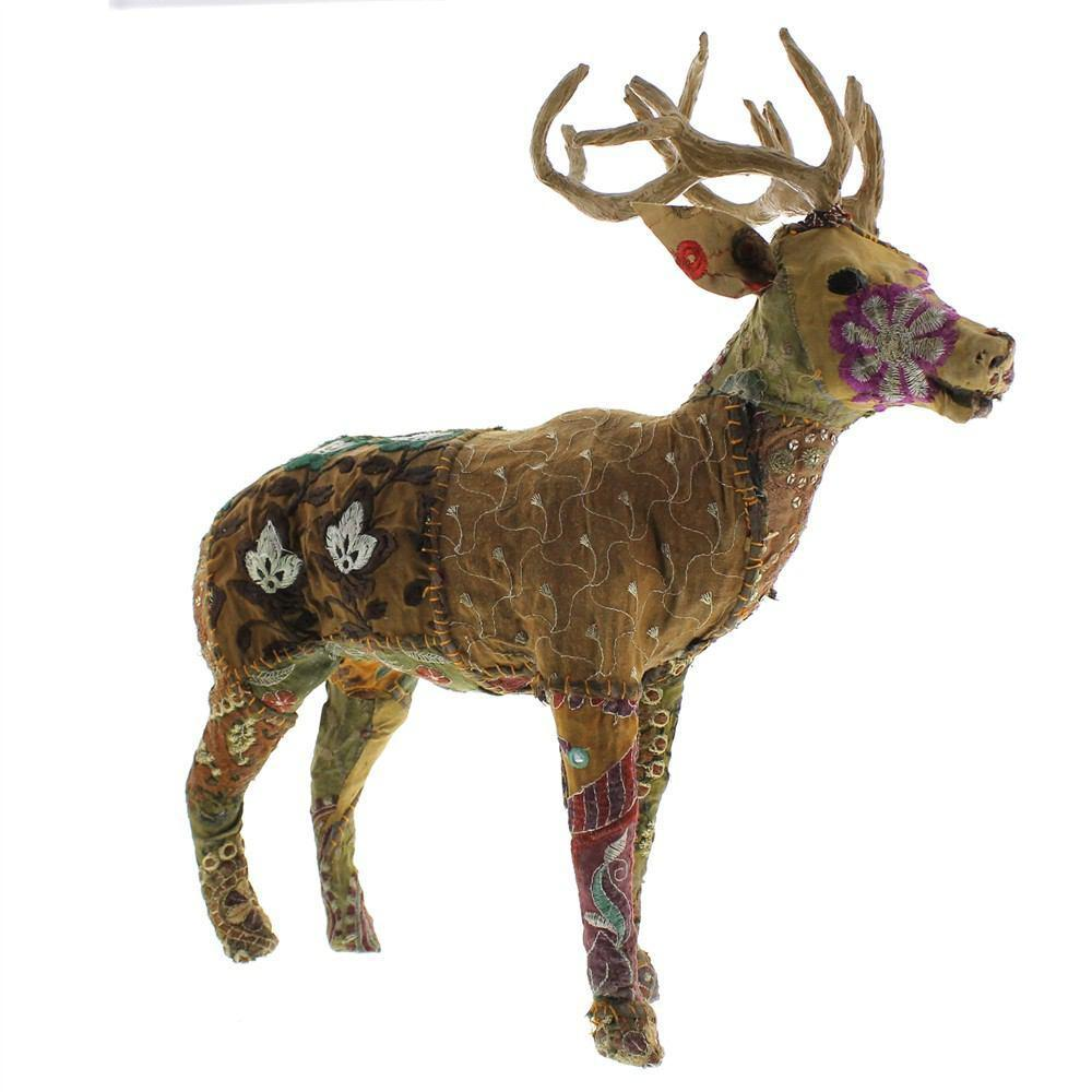 HomArt Bavarian Forest Stag Standing - Large - Deep Brown