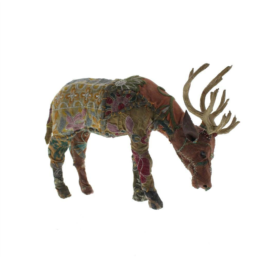 HomArt Bavarian Forest Stag Grazing - Small - Set of 2 - Deep Brown