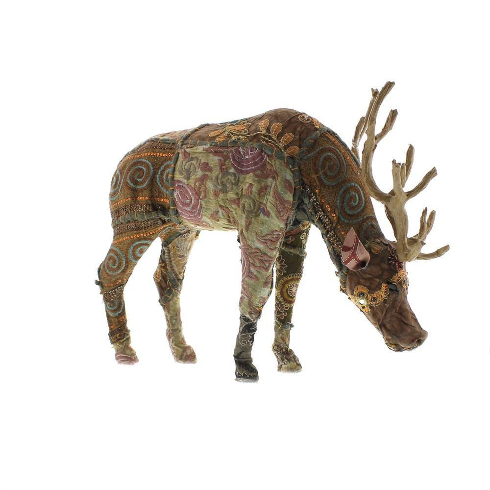 HomArt Bavarian Forest Stag Grazing - Large - Deep Brown