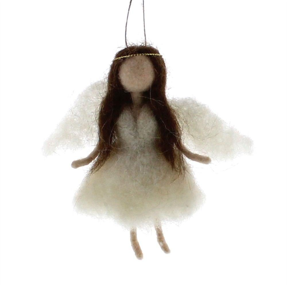 HomArt Felt Angel Ornament - Brunette