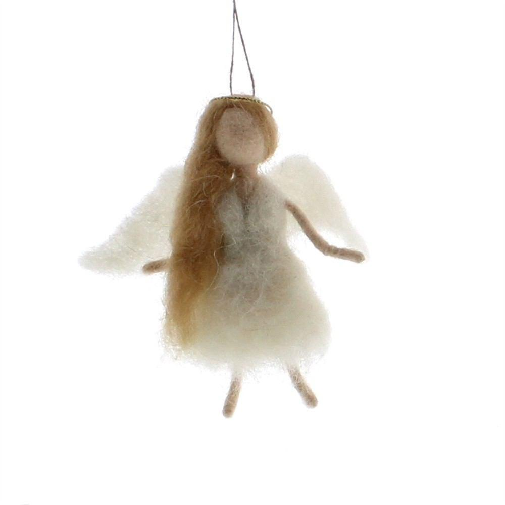 HomArt Felt Angel Ornament - Blonde