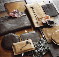 Roost Metallic Leather Pouch - Set Of 4
