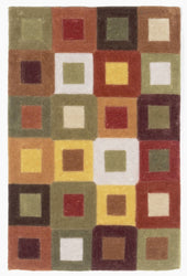Amalfi Square In Square Autum Indoor Rug