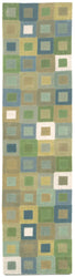 Amalfi Square In Square Ocean Indoor Rug