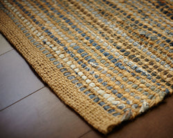 American Graffiti Denim & Jute Rug - MapleNest