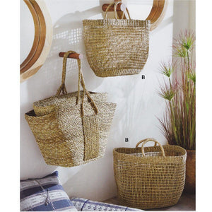 Roost Woven Natural Grass Totes