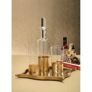 Zodax Vitorrio Gold Glass Tumbler - Set of 6