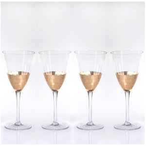 Zodax Vitorrio Gold Wine Glass - Set of 4
