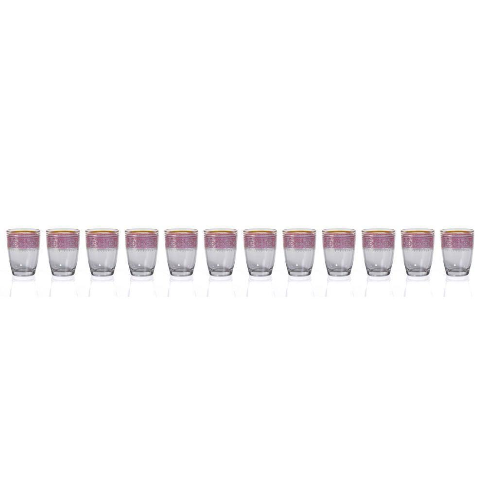 Zodax Casablanca Glass Tealight Holders - Set of 12 - Pink