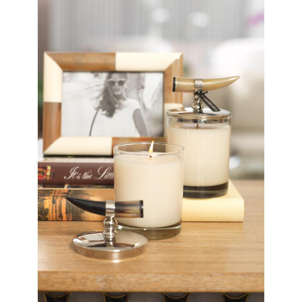 Zodax Casablanca Horn Scented Candle Jars - Set of 2
