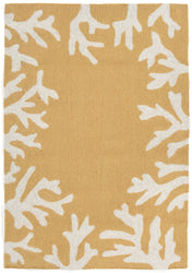 Capri Coral Bdr Yellow Indoor/Outdoor Rug