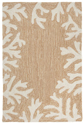 Capri Coral Bdr Neutral Indoor/Outdoor Rug