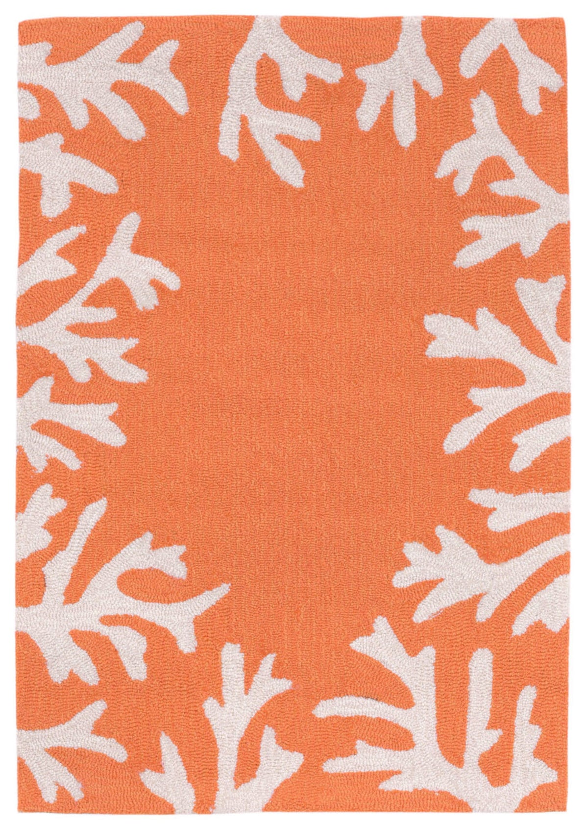Capri Coral Bdr Coral Indoor/Outdoor Rug