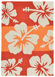 Capri Hibiscus Warm Indoor/Outdoor Rug