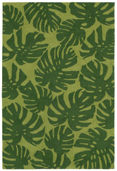 Capri Fronds Green Indoor/Outdoor Rug
