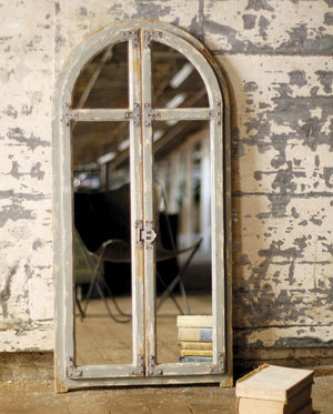 Kalalou Mirror With Arched Wooden Frame