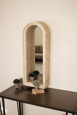 Kalalou Wooden Arched Frame Mirror