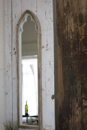 Kalalou Arched Wood Framed Mirror