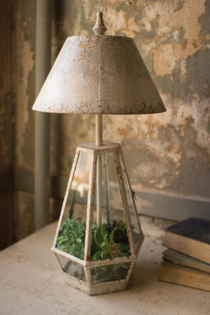 Kalalou Terrarium Lamp With Metal Shade