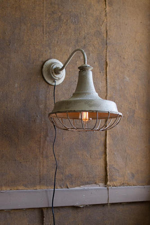 Kalalou Wall Sconce Lamp W/ Cage