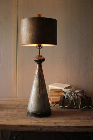 Kalalou Table Lamp With Metal Bases And Shade
