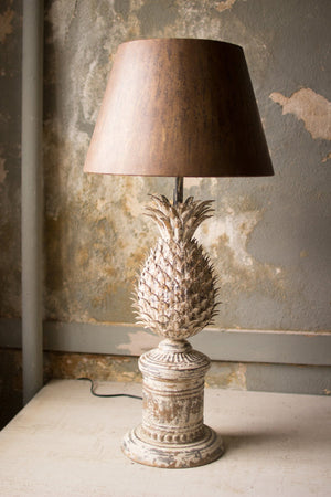 Kalalou Metal Pineapple Table Lamp