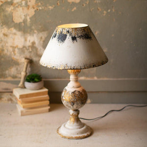Kalalou Table Lamp With Wooden Base & Metal Shade
