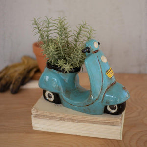 Kalalou Ceramic Moped Planter