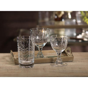 Zodax 5.5-Inch Tall Patia White Wine Glass - Set of 4
